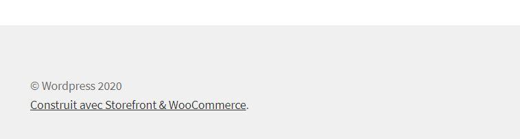 Changer les Crédits & Copyright du Pied de Page Tutoriel Storefront Woocommerce